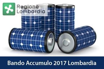 Bando Regione Lombardia Accumulo Fotovoltaico 2017