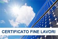 Certificazione di Fine Lavori Fotovoltaico