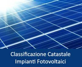 Classificazione Catastale Impianto Fotovoltaico