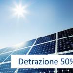 Detrazione Fotovoltaico 50%