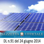 Decreto Spalma Incentivi Fotovoltaico del Governo Renzi (DL 91/2014)