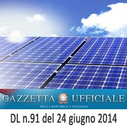 DL 91 del 24 giugno 2014 spalma incentivi fotovoltaico Renzi