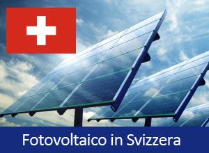Incentivi Fotovoltaico Svizzera