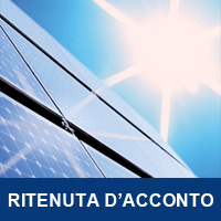 Ritenuta Acconto 4% Incentivi Fotovoltaico